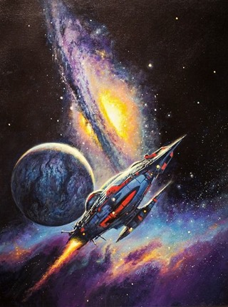 "Bob Eggleton -Tau Zero, 2009, cover for Poul Anderson's story collection ""To Outlive Eternity"""