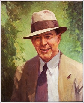Edgar Rice Burroughs ERB portrait painted by J. Allan St. John