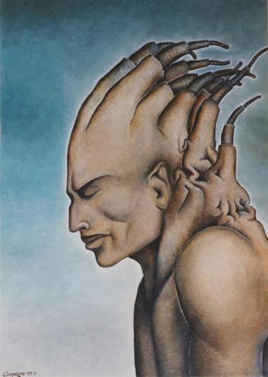 Il pensatore (70 x 50 - olio su tela) (luglio 1995)