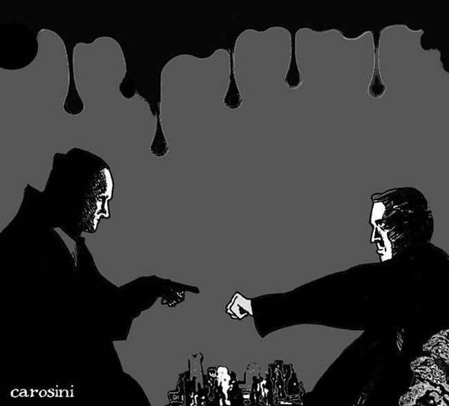 dettaglio illustrazione per L'arte della guerra di Maico Morellini