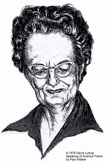 Andre Norton, Caricature Portrait by David Ludwig